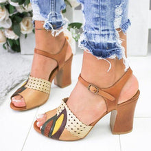 Load image into Gallery viewer, Vintage High Heel Sandals