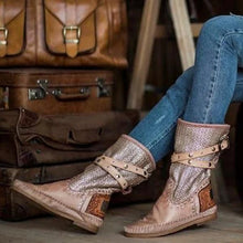 Load image into Gallery viewer, WOMEN'S VINTAGE STYLE CASUAL RIVET BOOTS
