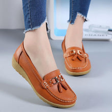Load image into Gallery viewer, Artificial Leather Soft Slope Peas Flat Shoes
