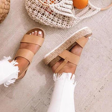 Load image into Gallery viewer, Casual Espadrille Platform Sandals