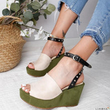 Load image into Gallery viewer, Women Buckle Strap Open Toe Sandals