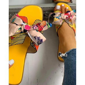 Women Fashion Casual Bow Flat Sandals