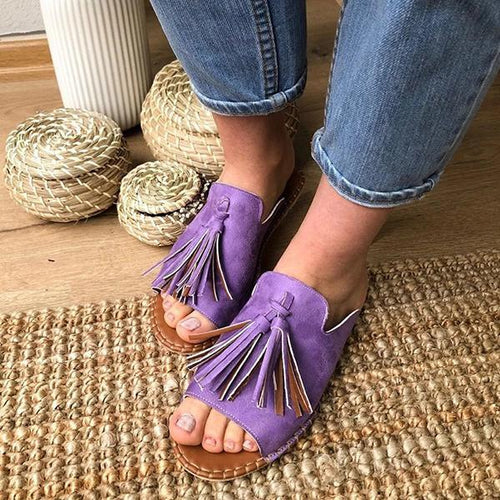 Summer Open Toe Slip-On Women Slippers