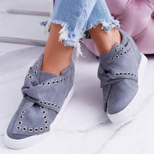 Load image into Gallery viewer, Faux Suede Wedge Heel Casual Sneakers