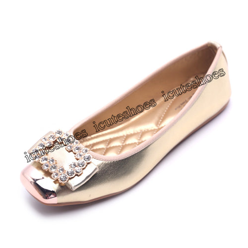 Loafers Woman Ballet Flats Women's Boat Shoes Female Flats Crystal Rhinestone Decoration Elegant