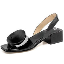Load image into Gallery viewer, Chunky Heel PU Casual Summer Sandals