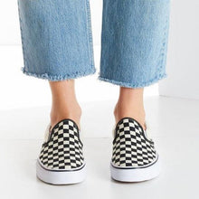 Load image into Gallery viewer, Large Size Canvas Casual Checkerboard Flats Loafers Slip-on