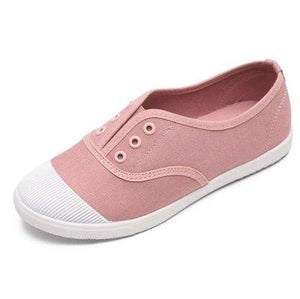Women Spring Summer Round Toe Canvas Shoes Flats Casual Daily Slip-on