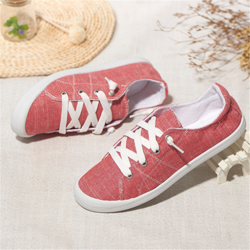 Fashionable Breathable Flat-Bottomed Casual Shoes