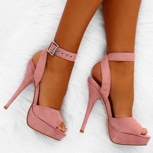 Women Summer PU Peep Toe Sandals