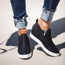 Load image into Gallery viewer, Women Fashion Wedge Sneakers Solid Color Comfortable Shoes