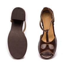Load image into Gallery viewer, Women Middle Heels Hollow-Out Mary Jane Sandals