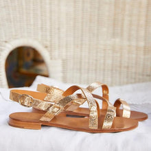 Load image into Gallery viewer, Summer Flat Open Toe Buckle Flat Sandals