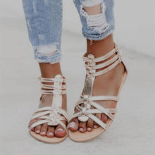 Load image into Gallery viewer, Bohemia Folk Style Crisscross Women Flat Sandals