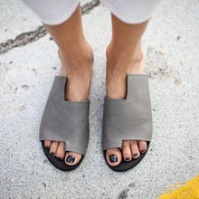Load image into Gallery viewer, Solid Fashion Design Flip Flop Asymmetric Sandals