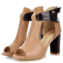 Load image into Gallery viewer, Summer Peep Toe Sexy Color Block Cutout Sky-High Women Sandals