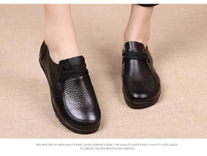 Women Flats Genuine Leather Casual Loafers Shoes