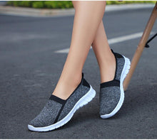 Load image into Gallery viewer, Women slip on loafers Plus size breathable mesh ballet sneakers flat shoes