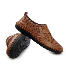 Load image into Gallery viewer, Men Oversize Mesh Flats Casual titching Soft Comfortable Loafers Shoes