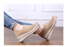 Load image into Gallery viewer, Women Shoes Platform Sneakers Slip on Flats Loafers Moccasins Hollow Out Casual Shoes