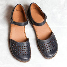 Load image into Gallery viewer, Flat Heels Buckle Holes Hollow Sandals