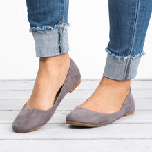 Load image into Gallery viewer, Classic Grey Ballerina Flats