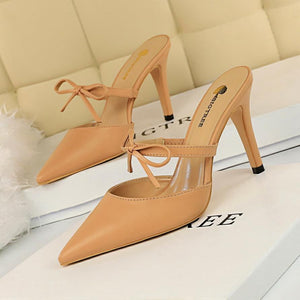 wedding shoes bride mules shoes women pointed toe high heels shoes fetish high heels black pumps black high heels