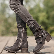 Load image into Gallery viewer, Chunky Heel Zipper Women Boots