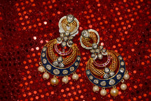 Load image into Gallery viewer, Something to go with your Garba night couture. Also wear with saris, suits and kurtis. This colorful pair of earrings is a traditional work of art, only for you.
