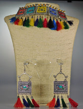 Load image into Gallery viewer, Necklace & Earrings Set: Colors & Stones
