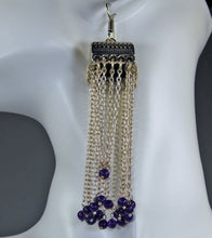 Load image into Gallery viewer, Earrings: Sapphire & American Diamond Collection