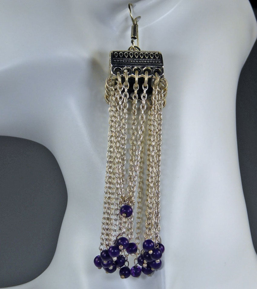 Earrings: Sapphire & American Diamond Collection