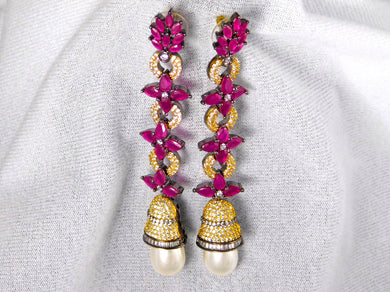 Earrings: Ruby & Pearl Collection
