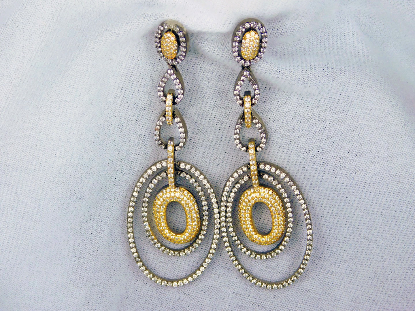 Earrings: American Diamond & 1 gm Gold-plated Collection