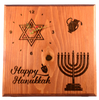 Holiday Hanukkah Clock -  Festival of Lights Holiday Home Decor Gift