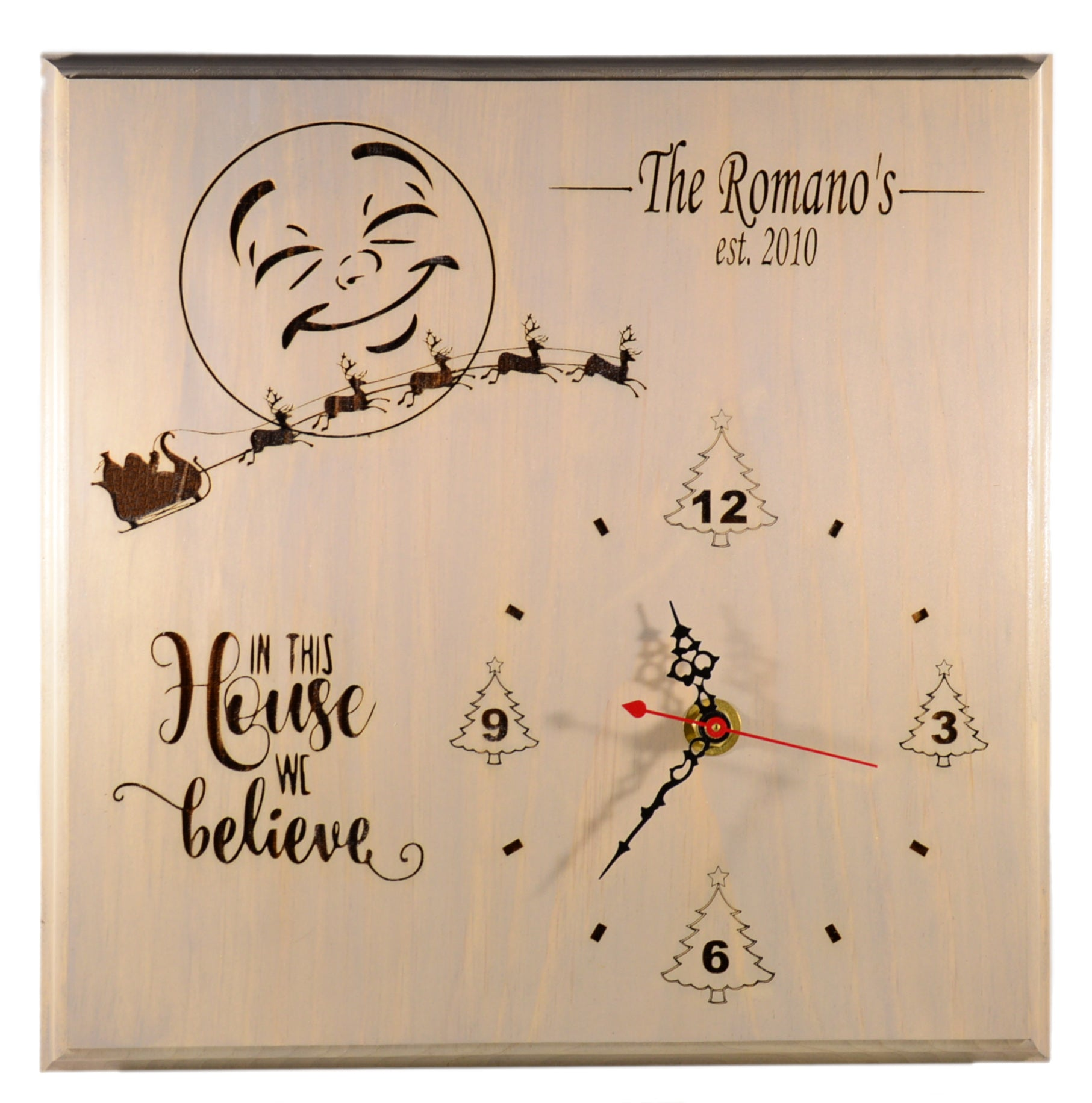 Holiday Santa Clock - Personalized Christmas Home Decor Gift