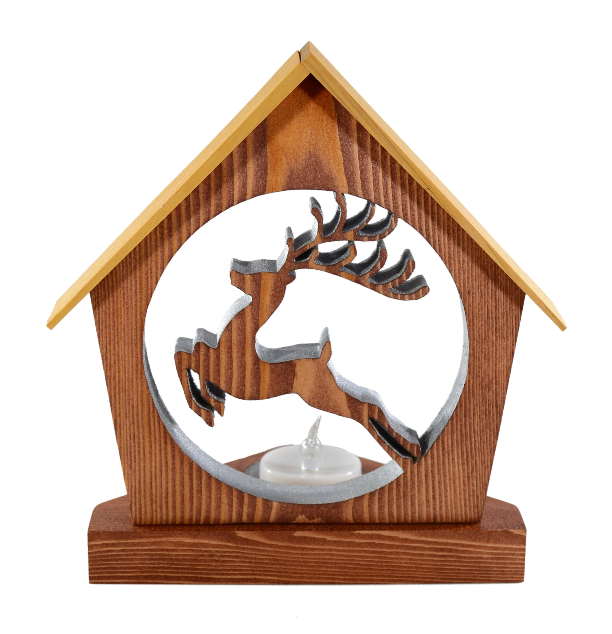PRANCING REINDEER Holiday Keepsake Tealight Candle Holder - Unique Christmas Home Decor Gift