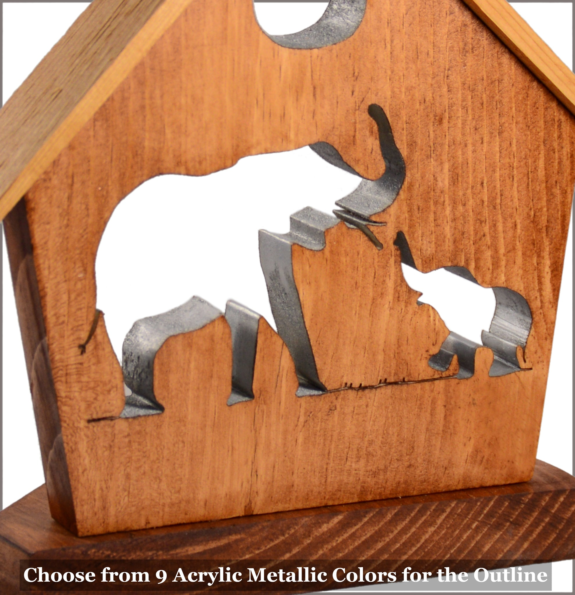 Elephant & Baby Tealight Candle Holder Cottage - Personalized Elephant Home Décor