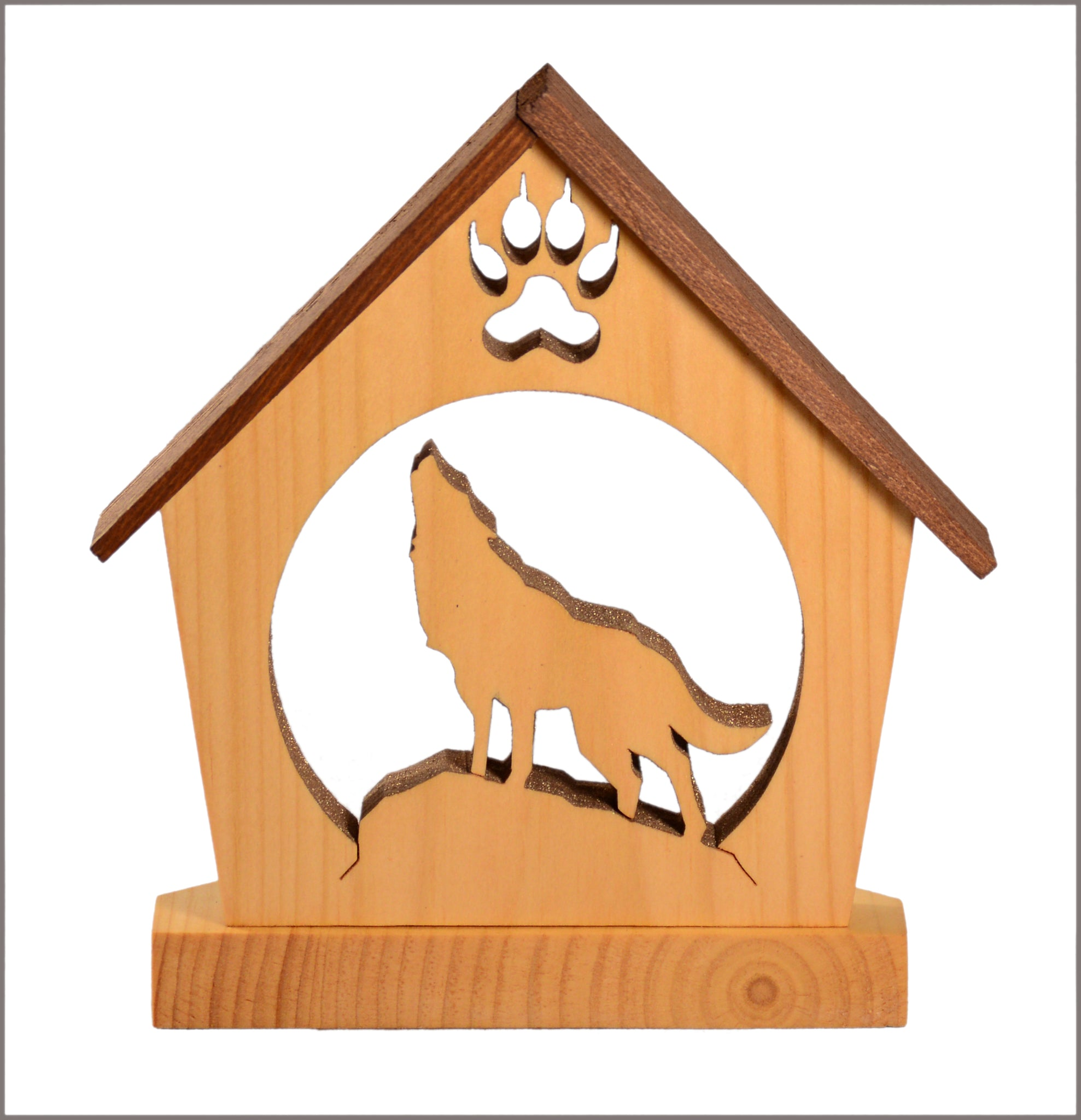 Howling Wolf Tealight Candle Holder - Personalized Wolf Home Décor