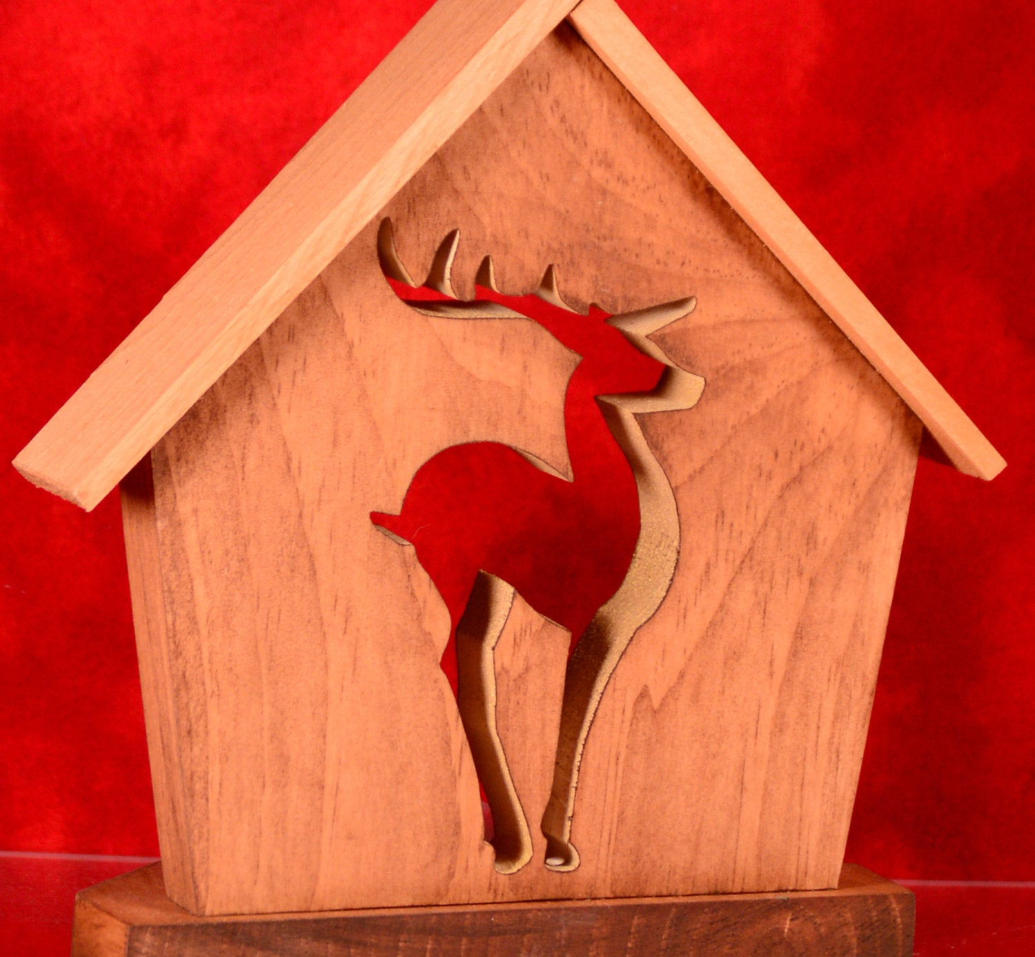 CHRISTMAS DEER Holiday Keepsake Candle Holder Set - Unique Christmas Home Decor Gift