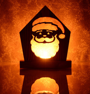 Santa Claus Tea Light Candle Holder-Christmas Mantle Decor-Holiday Decorations-Coworker Gift-Rustic Country Christmas Decor-Best Gift Ideas
