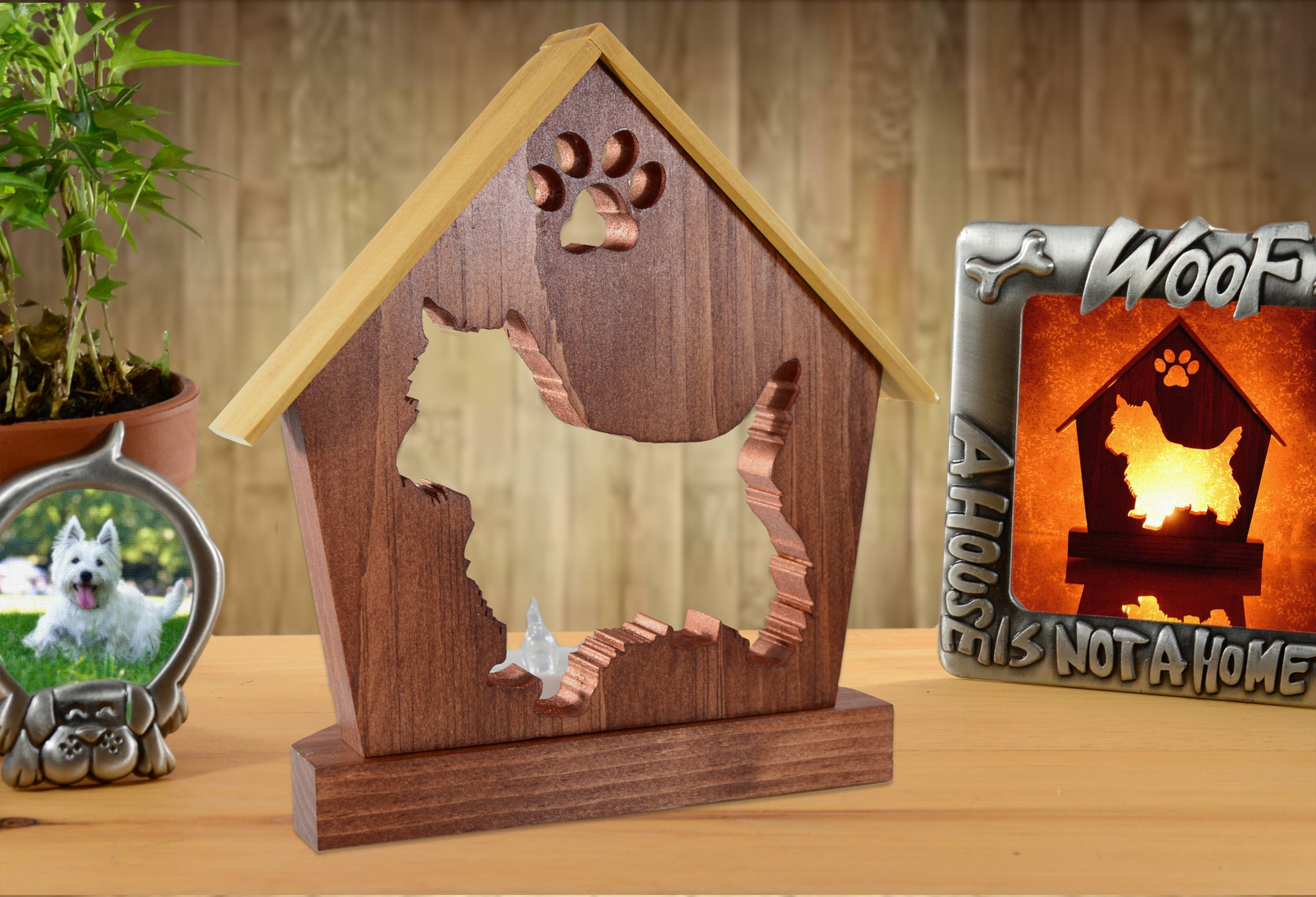 Westie Dog Memorial Keepsake Candle Holder • Personalized Gift for Dog Lovers