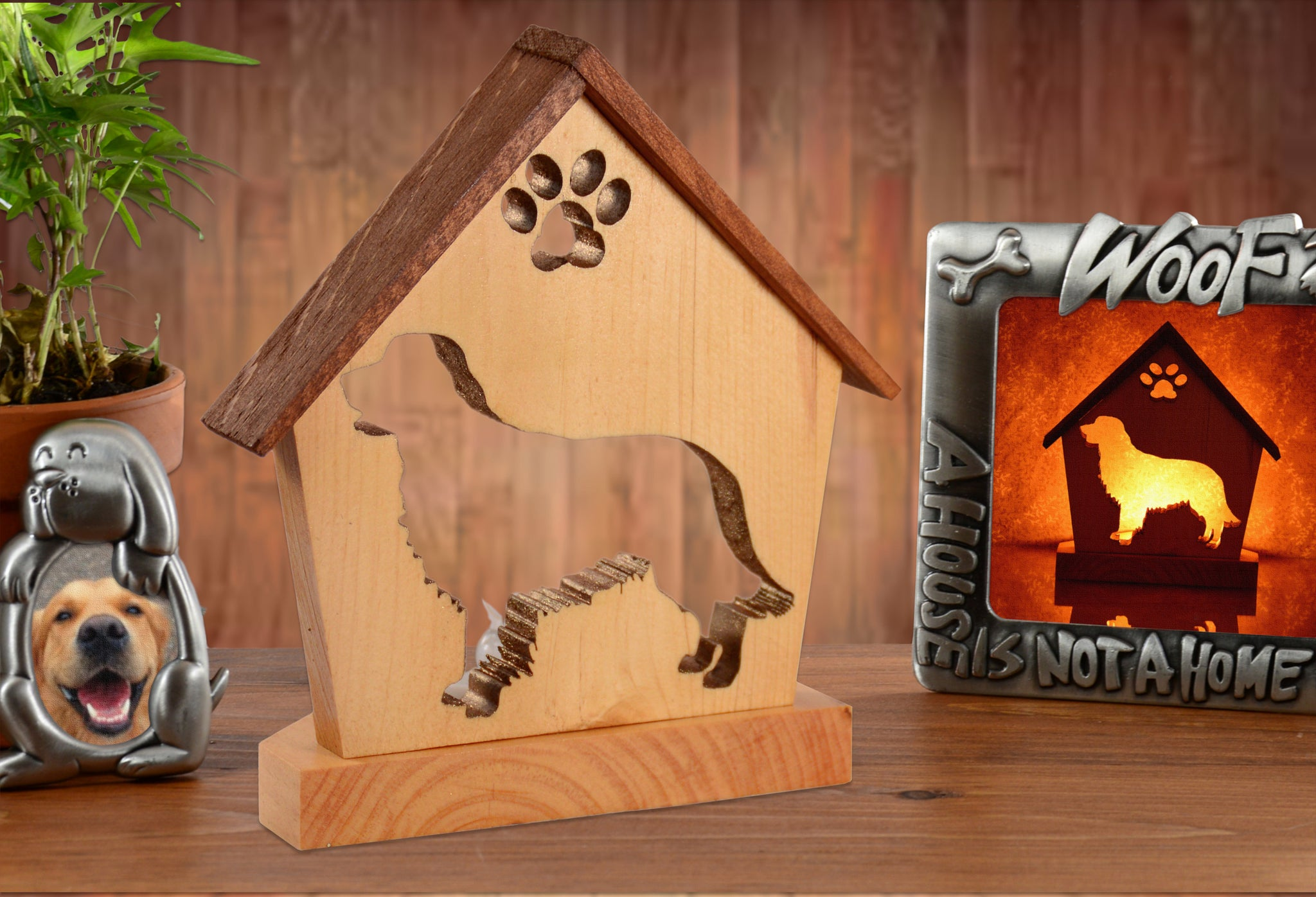 Golden Retriever Dog Memorial Keepsake Candle Holder • Personalized Gift for Dog Lovers