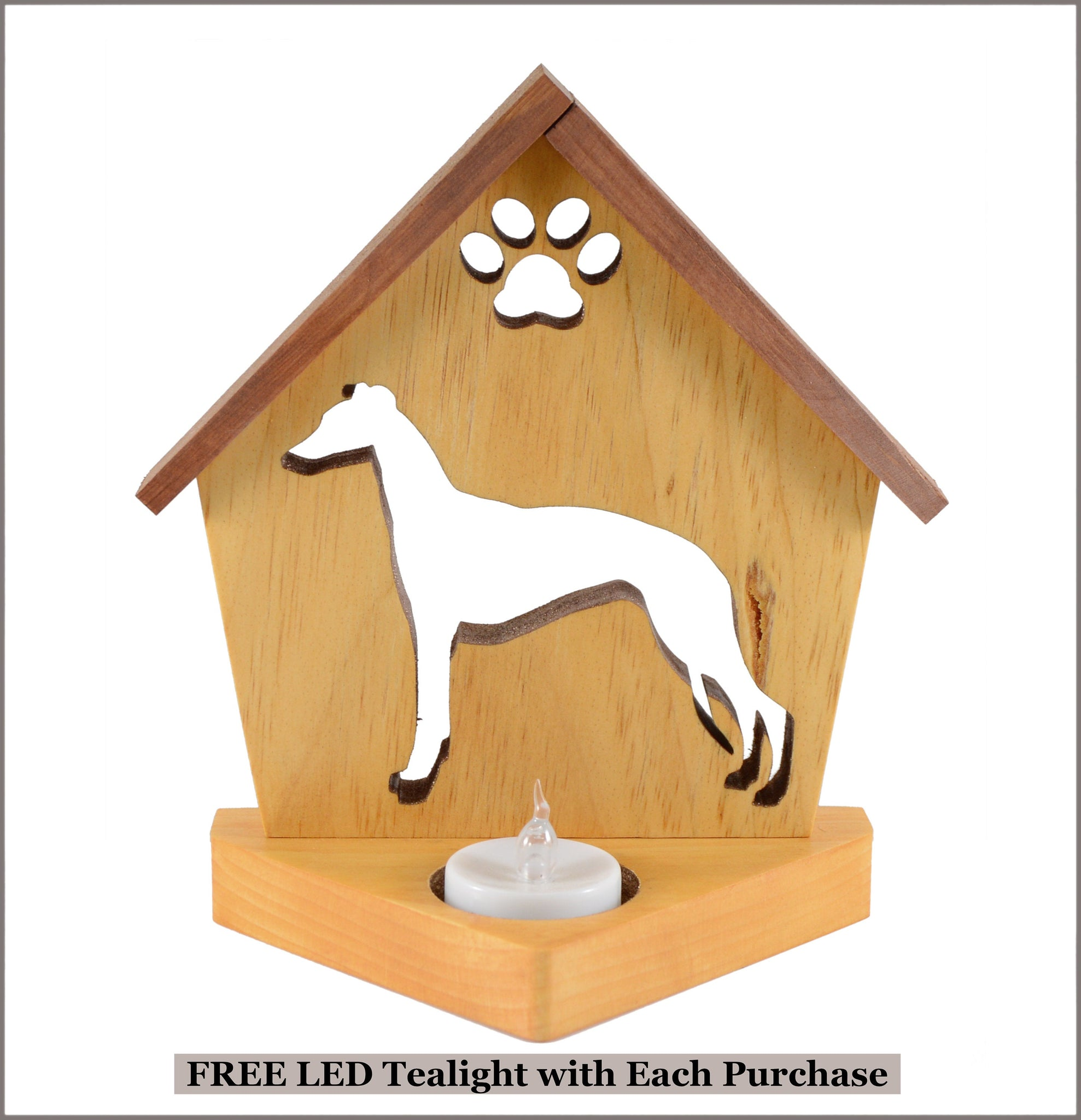Italian Greyhound Dog Memorial Keepsake Candle Holder • Personalized Gift for Dog Lovers