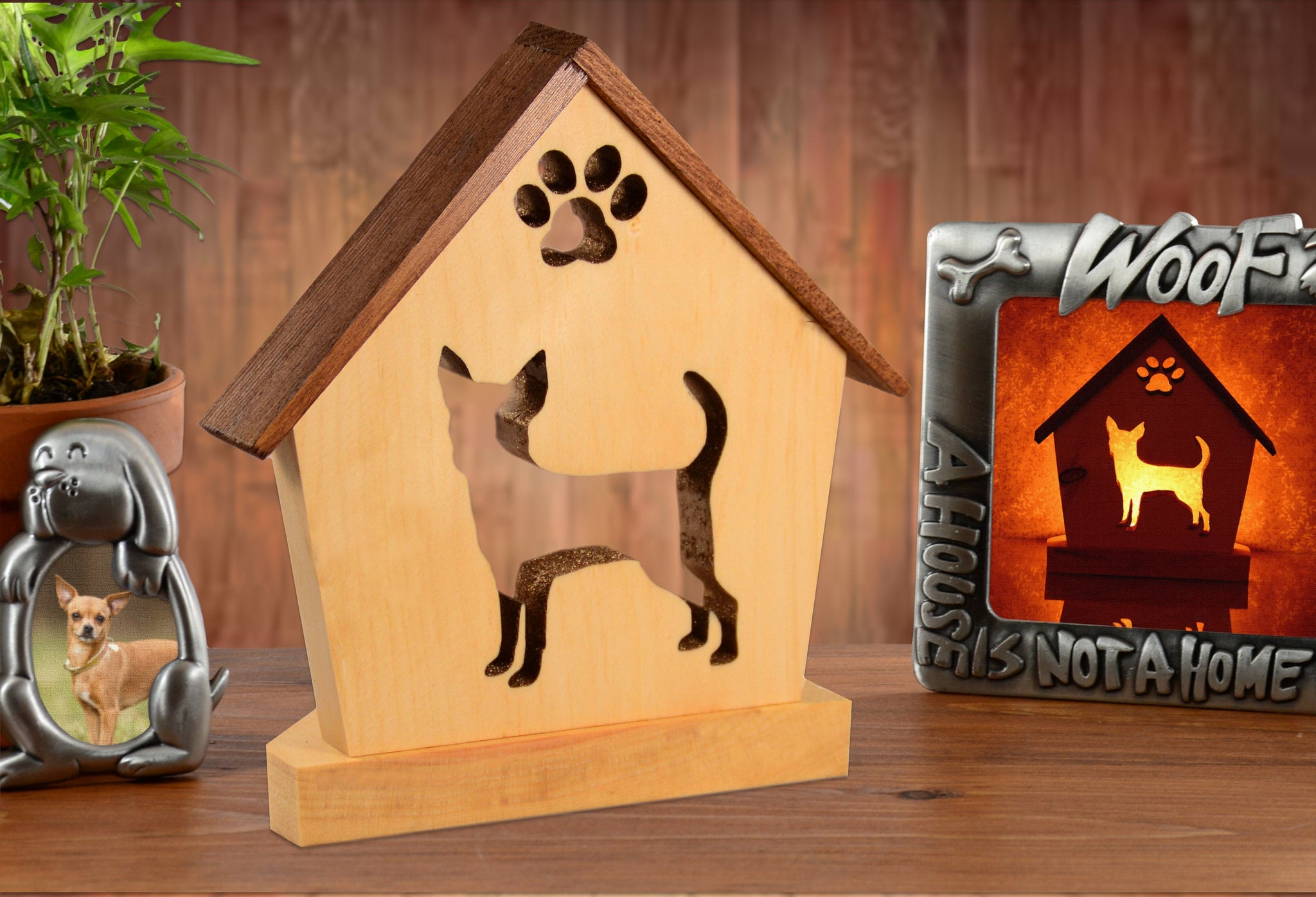 Chihuahua Dog Memorial Keepsake Candle Holder • Personalized Gift for Dog Lovers