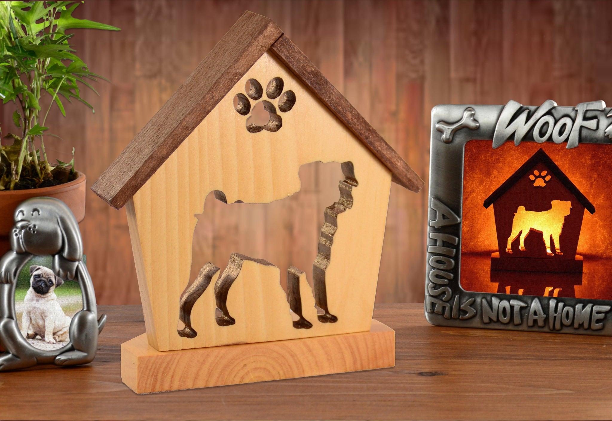 Pug Dog Memorial Keepsake Candle Holder • Personalized Gift for Dog Lovers