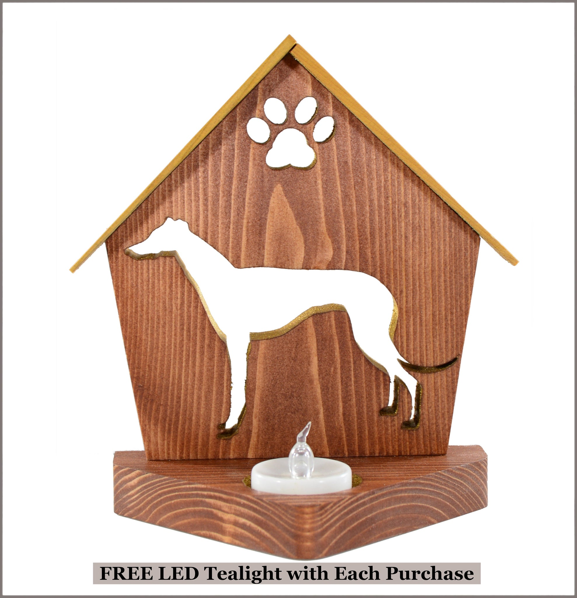 Greyhound Dog Memorial Keepsake Candle Holder • Personalized Gift for Dog Lovers