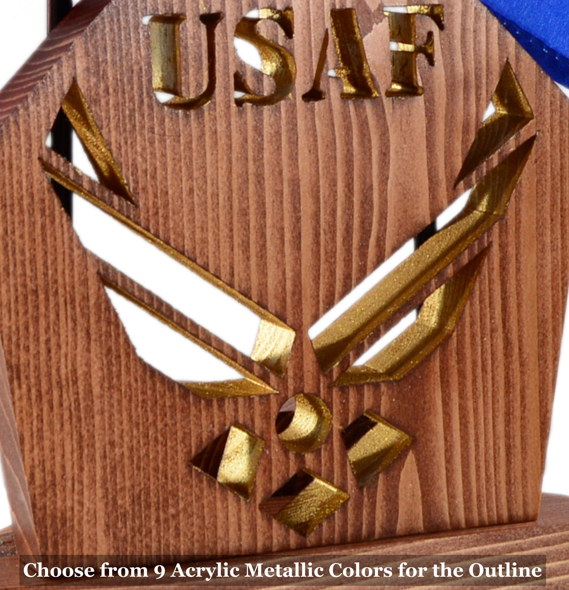 AIR FORCE Insignia Desk Set • Personalized Gift for Veteran Airmen