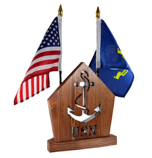 NAVY Anchor Insignia Personalized Gift Set • Gift for Veteran Soldier Officer • Military Desk Set • Armed Forces • USN Navy Office Accessory