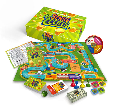 "Sense 2 Cents ""The Financial Literacy"" Board Game"